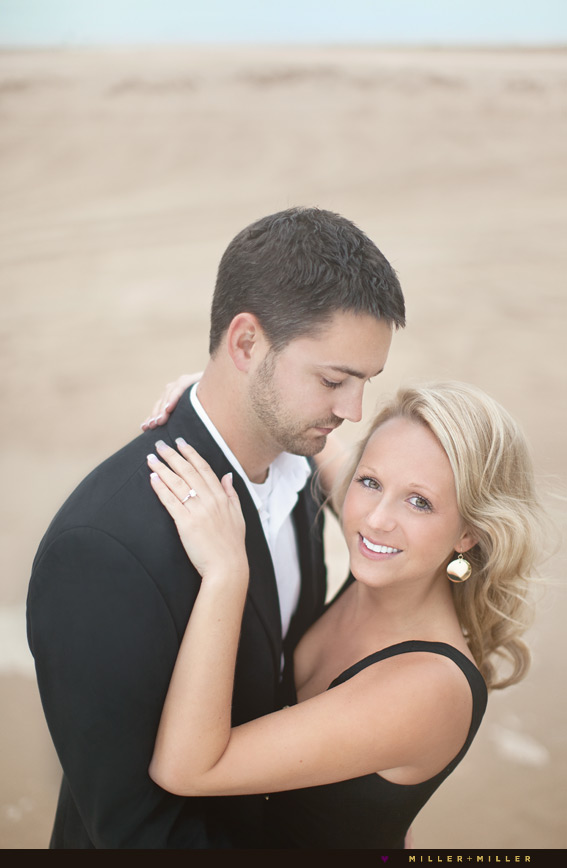beach dunes engagement photos
