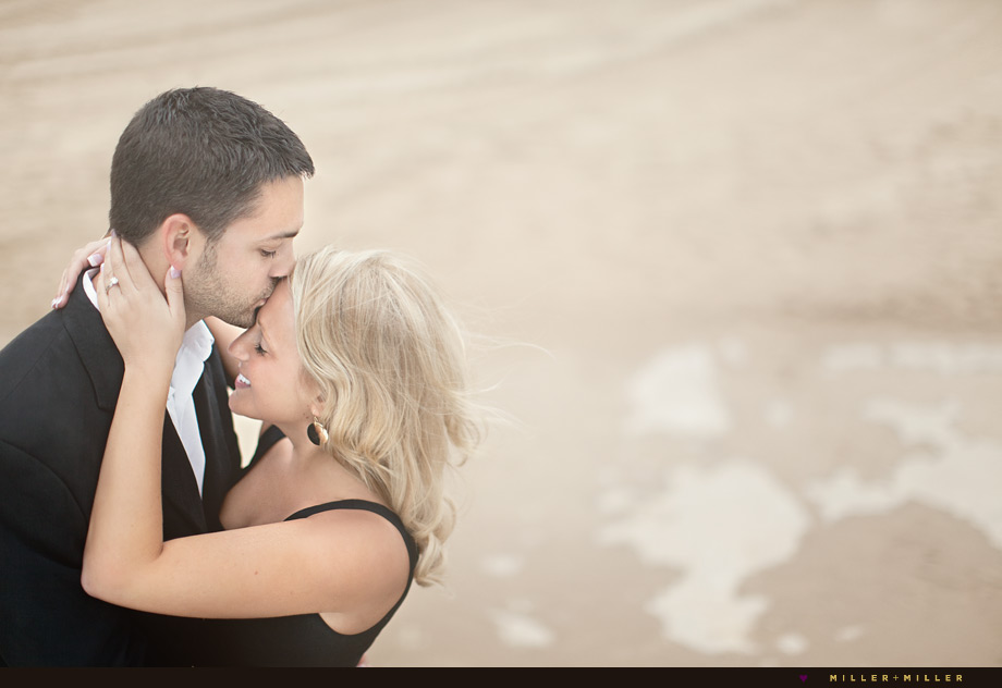 chicago beach engagement photos