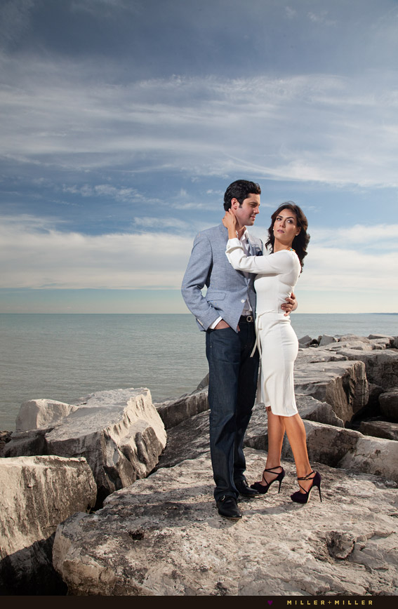chicago high-fashion engagement photographs