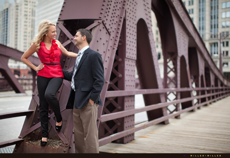 engagement Lasalle bridge photo