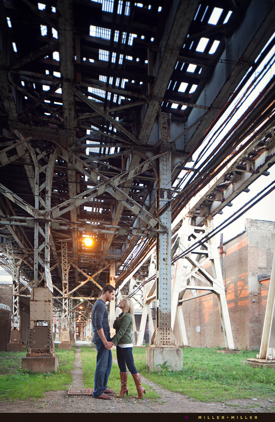 photos under dirty grungy chicago L tracks