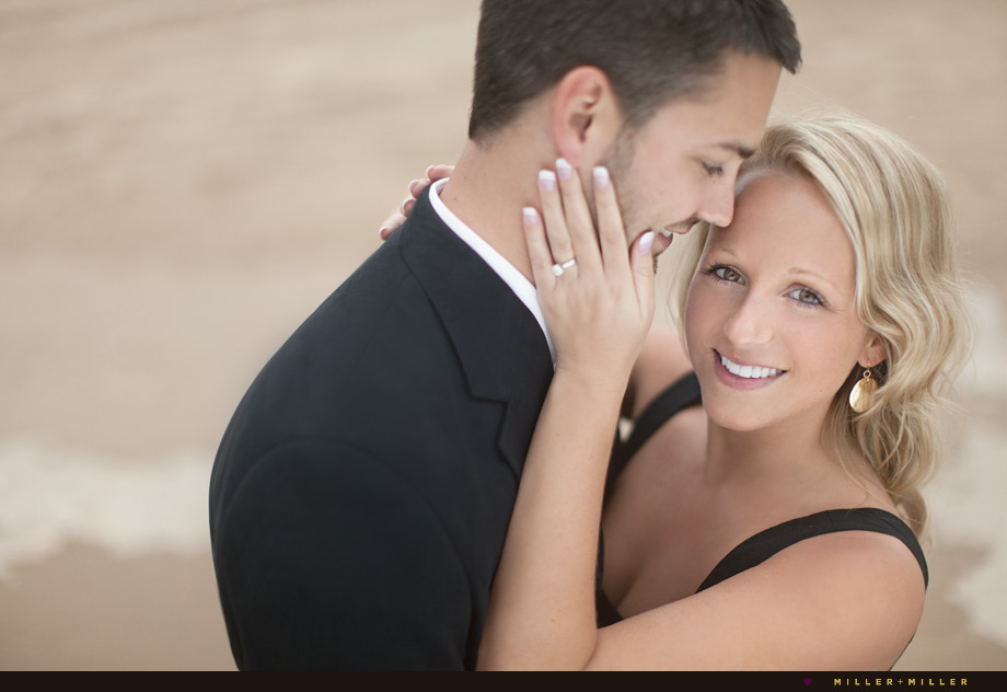 sand dunes beach engagement portraits