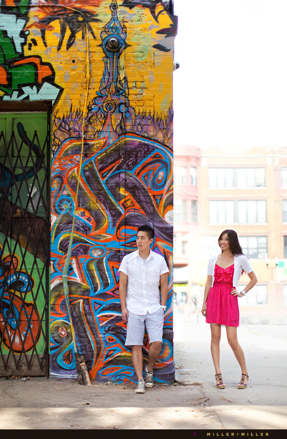 urban street alley engagement