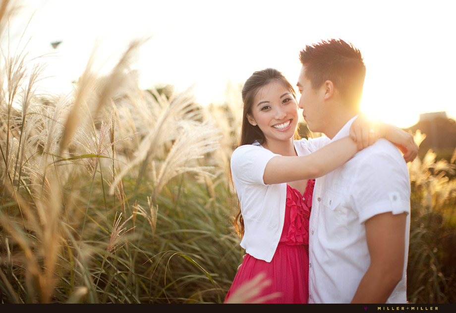 warm glowing engagement images