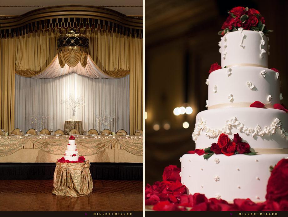 elegant red velvet cake roses