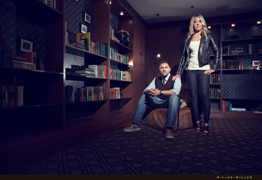 fashion posed couple portraits