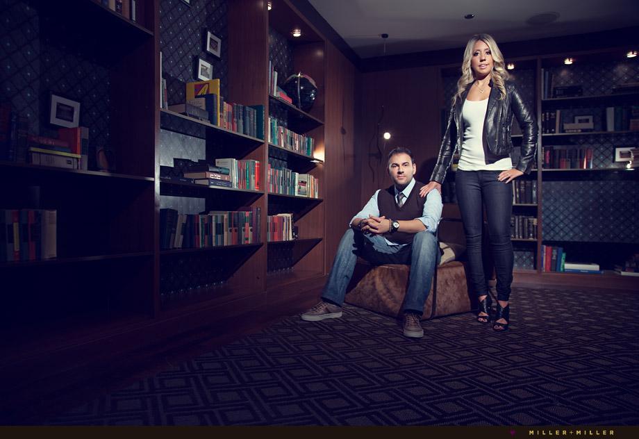 fashion posed couple portraits