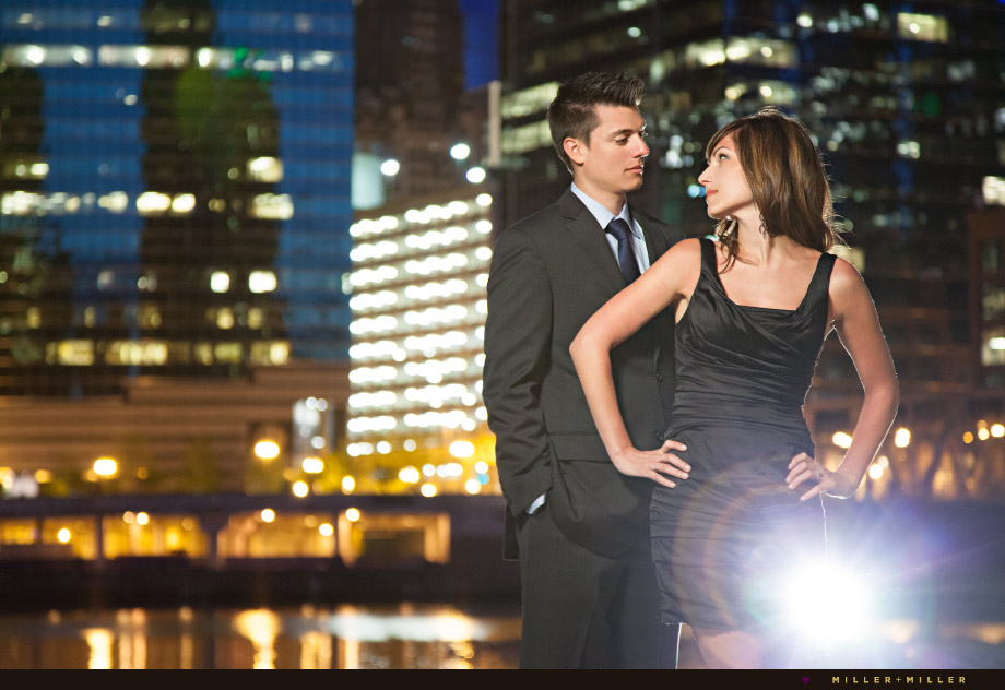 night couture fashion engagement photography