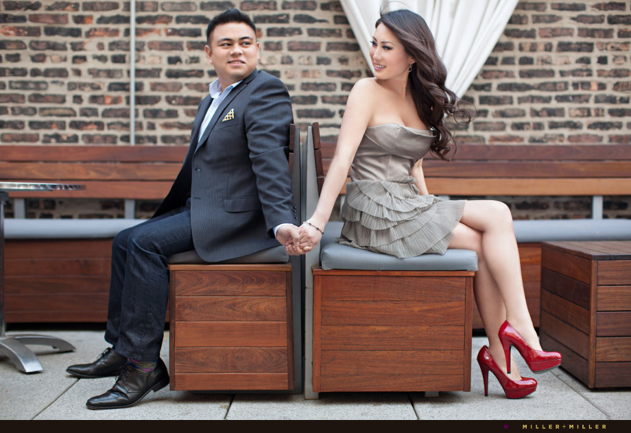 fresh contemporary engagement photos