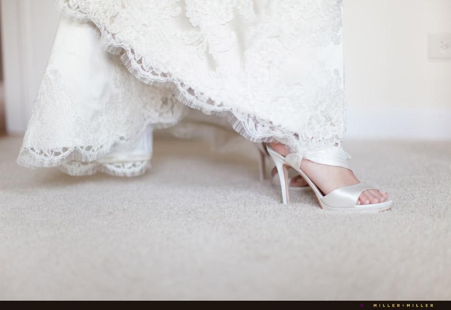 lace satin bridal detail pictures