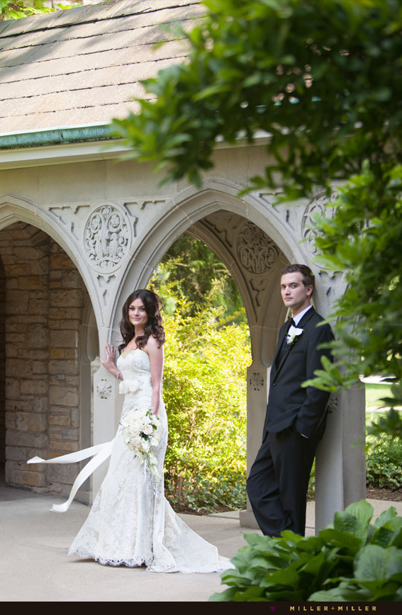 naperville wedding photography church columns arches
