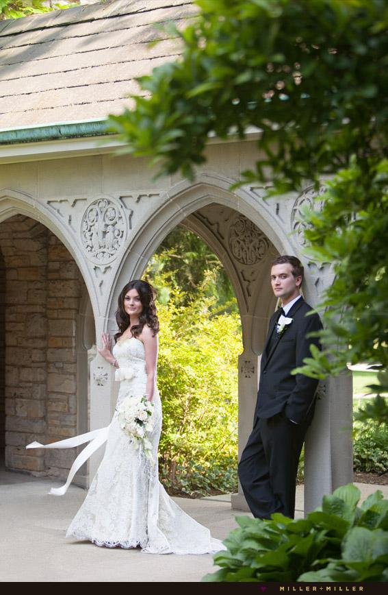 naperville wedding photography church columns arches