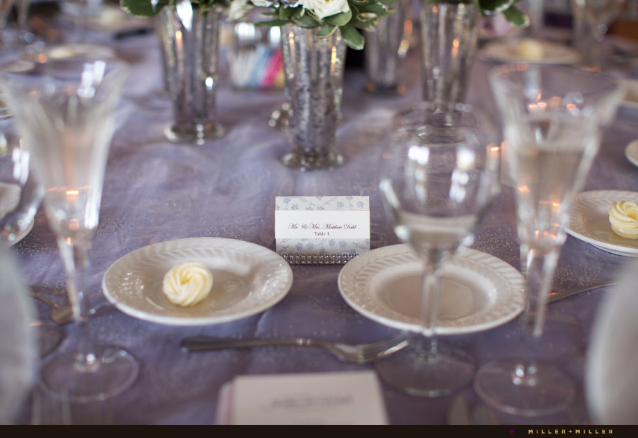 purple silver sparkle reception colors