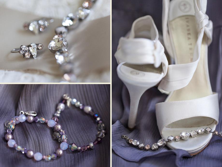 purple spring bridal accessories