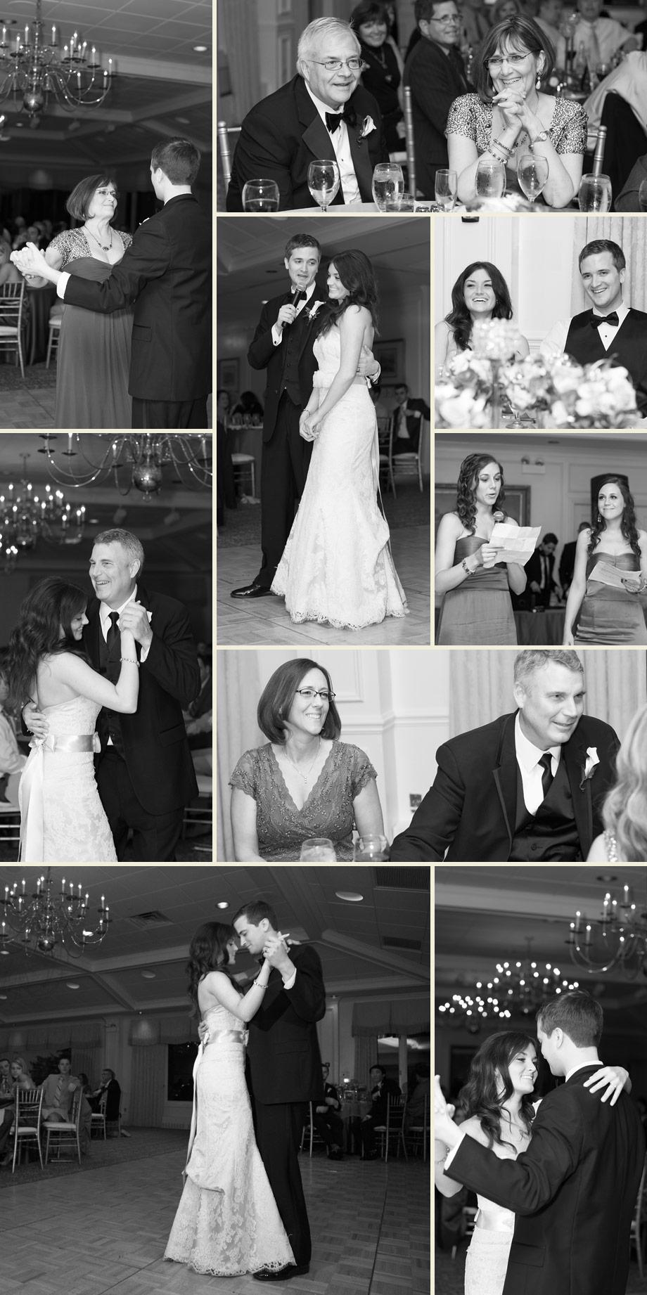 reception black white photographs