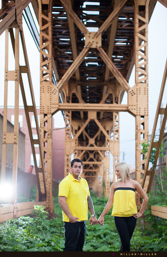 unique engagement images chicago area