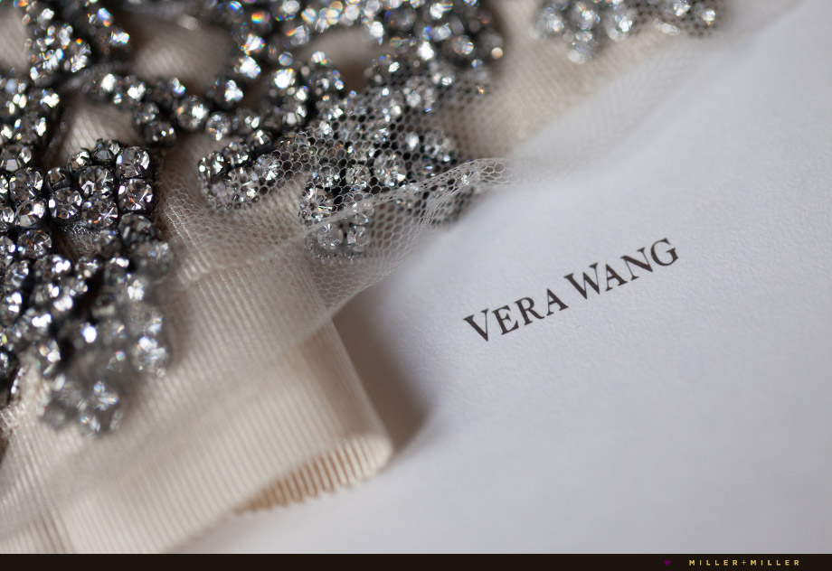 bride wearing vera wang wedding