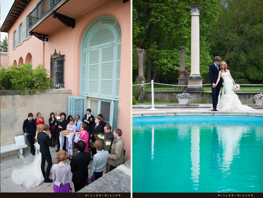 poolside european style wedding chicago
