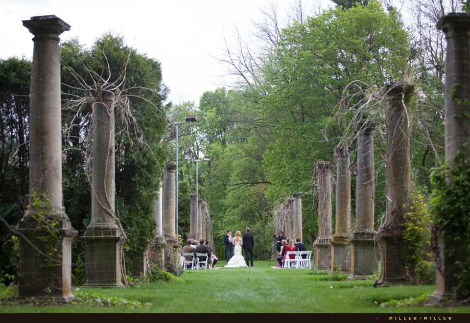 romantic outdoor ceremony cuneo mansion illinois
