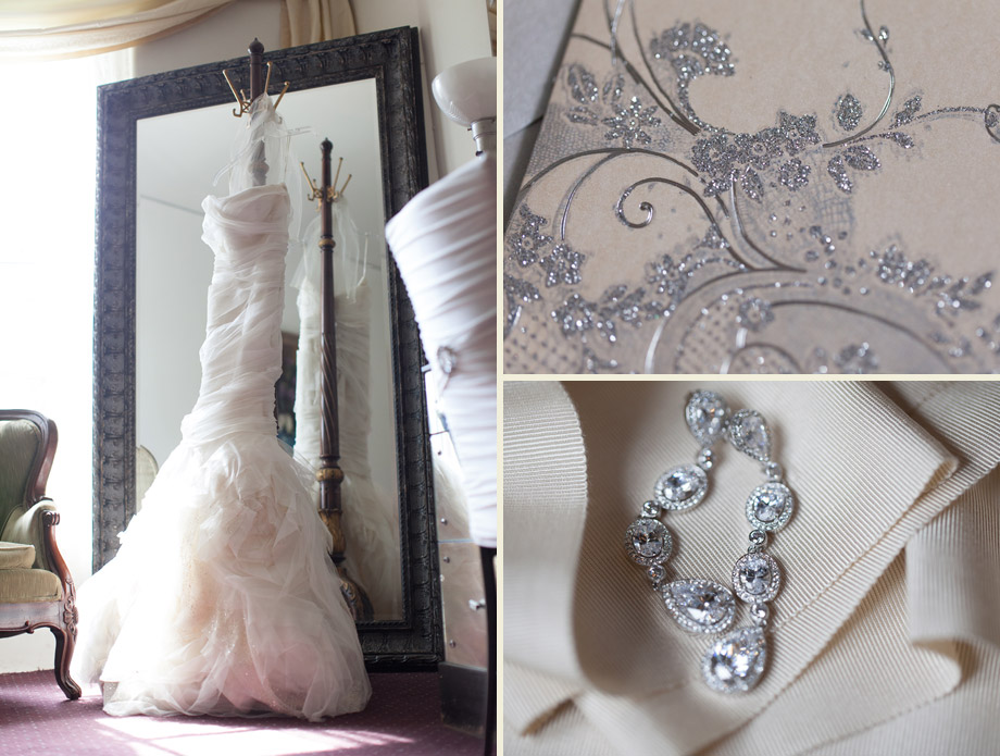 silver purple stylish bridal details