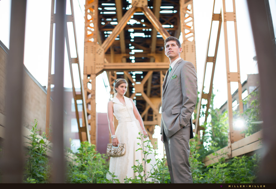 fashion inspired wedding photographs chicago