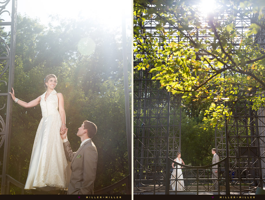 golden sun bridal portraits