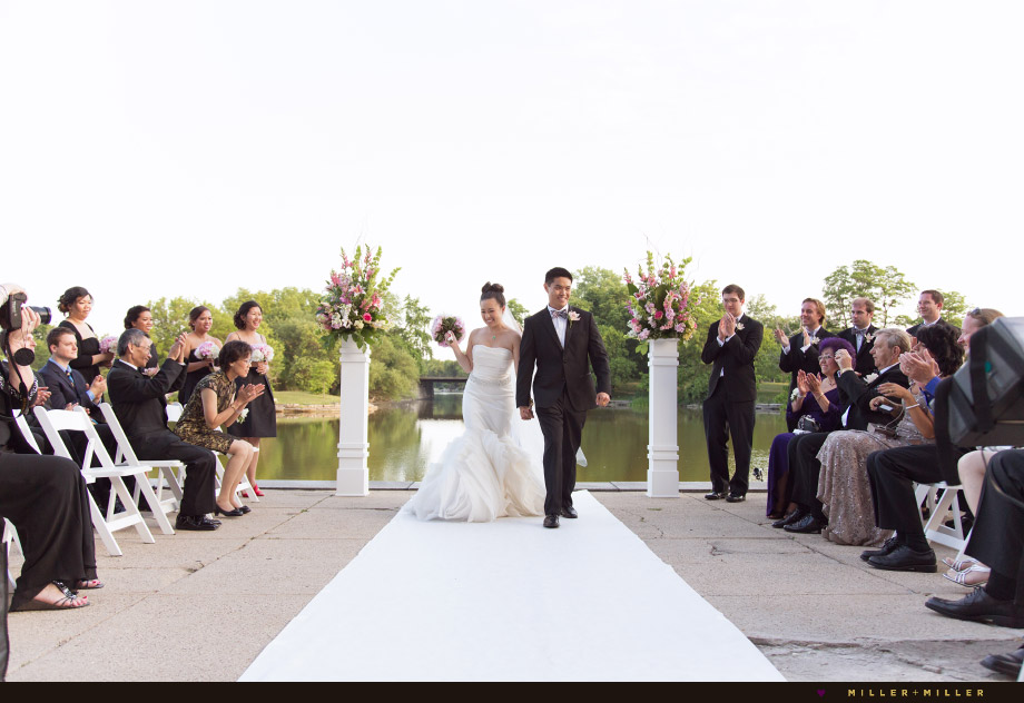 private lagoon lake front ceremony