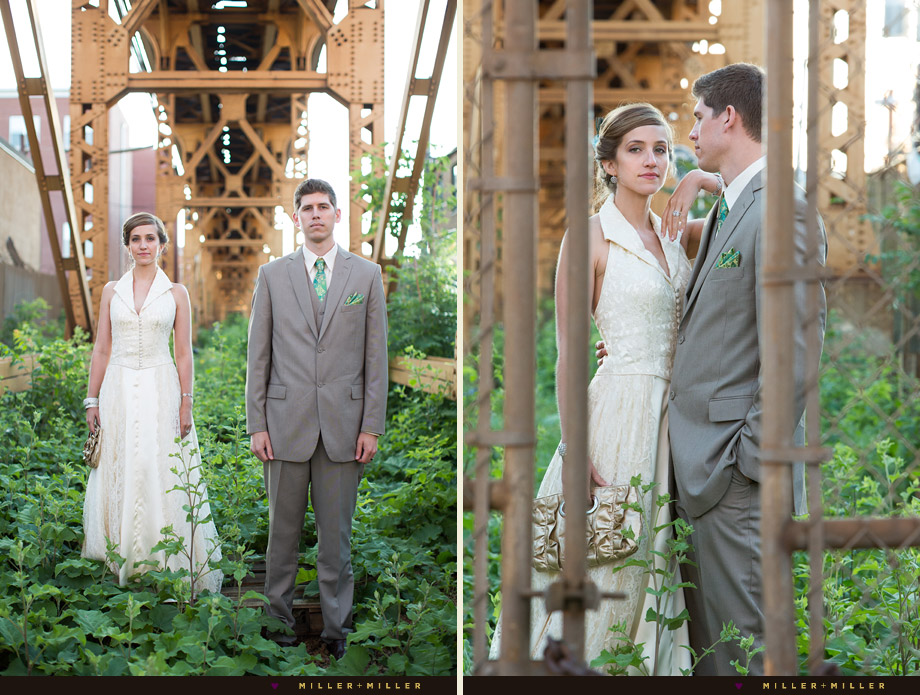 vintage style wedding chicago