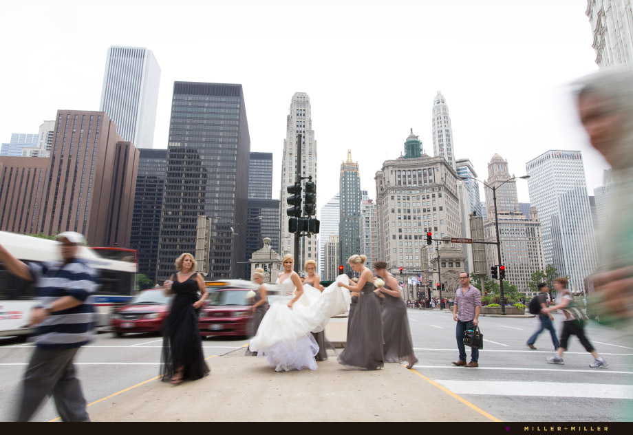 bride crossing michigan avenue