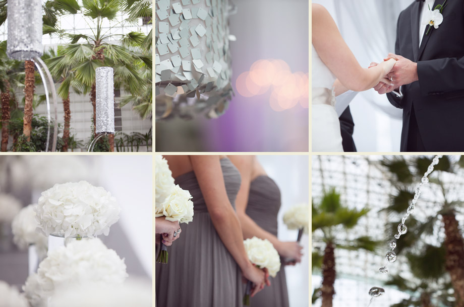 modern white flowers ceremony detail pictures