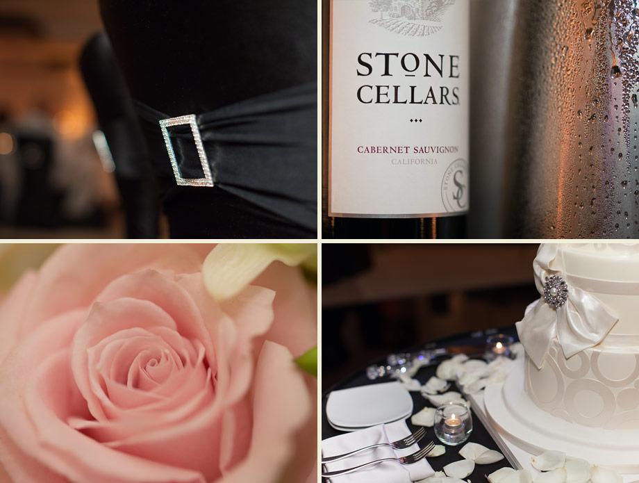 pink black elegant reception