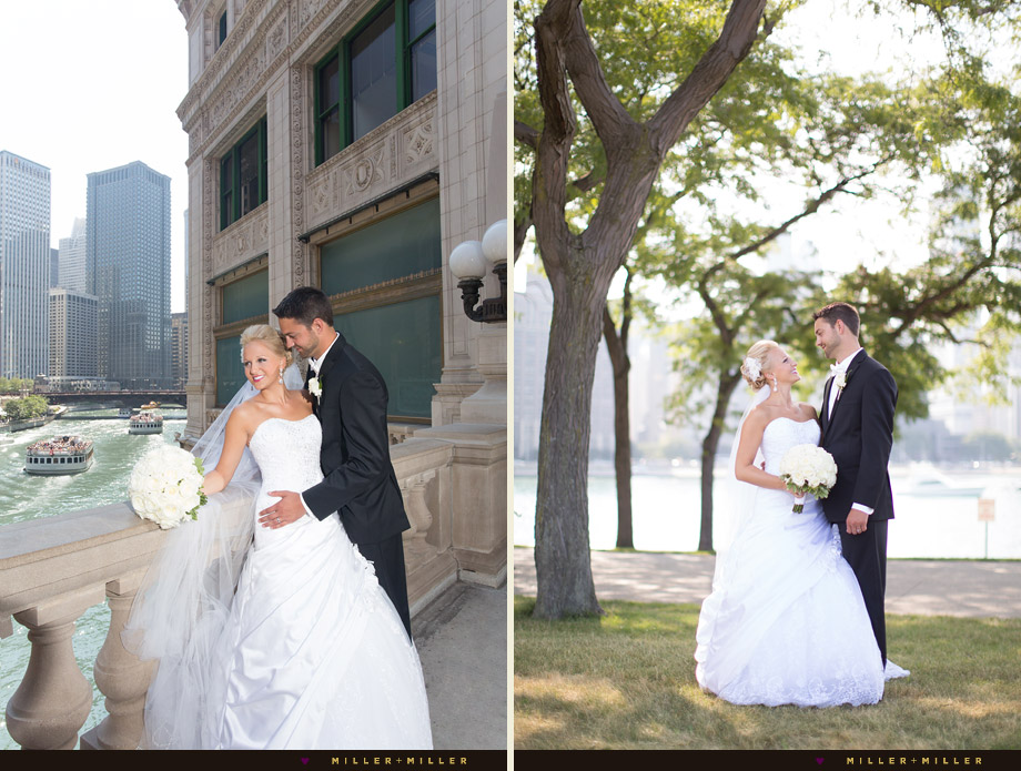 chicago river wedding photos
