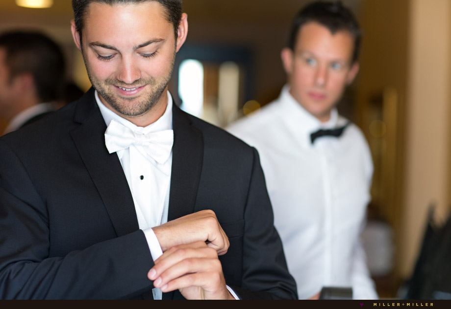 groom tuxedo classic white bow tie