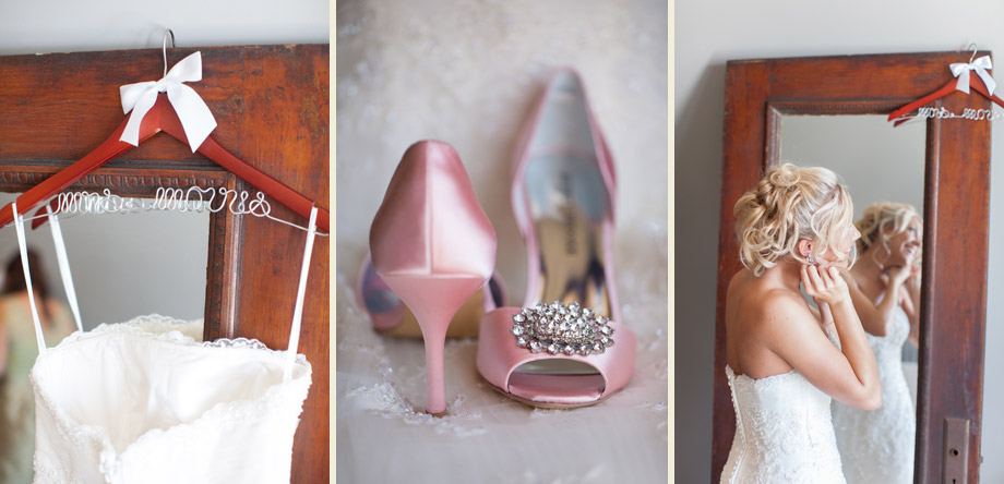 pink bridal heels classic wood antique