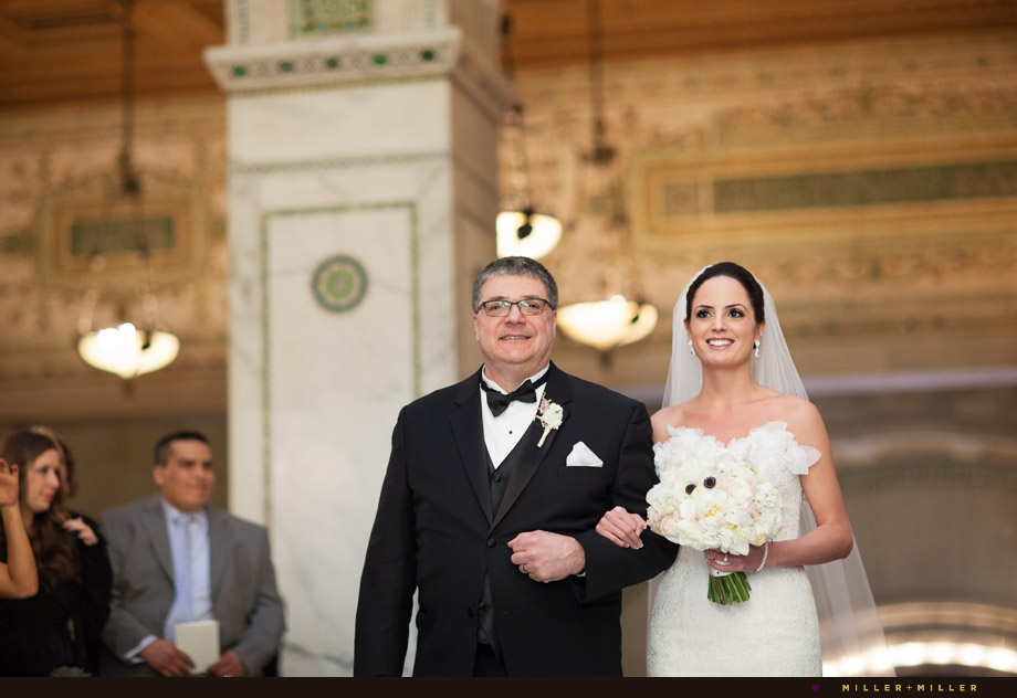 dad walking bride aisle