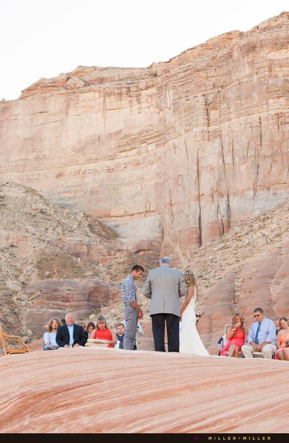 Antelope Point marina wedding Lake Powell Arizona