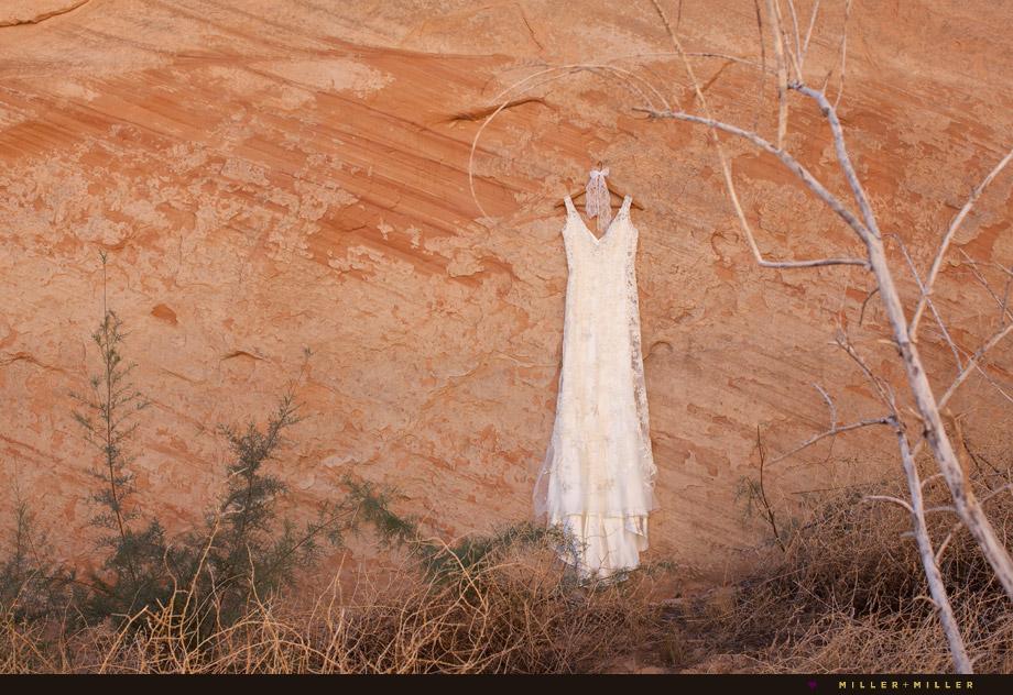 bohemian desert rock canyon wall hanging gown