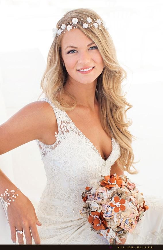 bohemian inspired destination wedding bridal crown