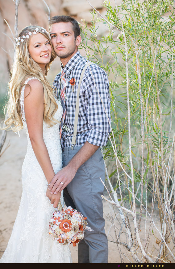 bohemian-inspired wedding desert destination