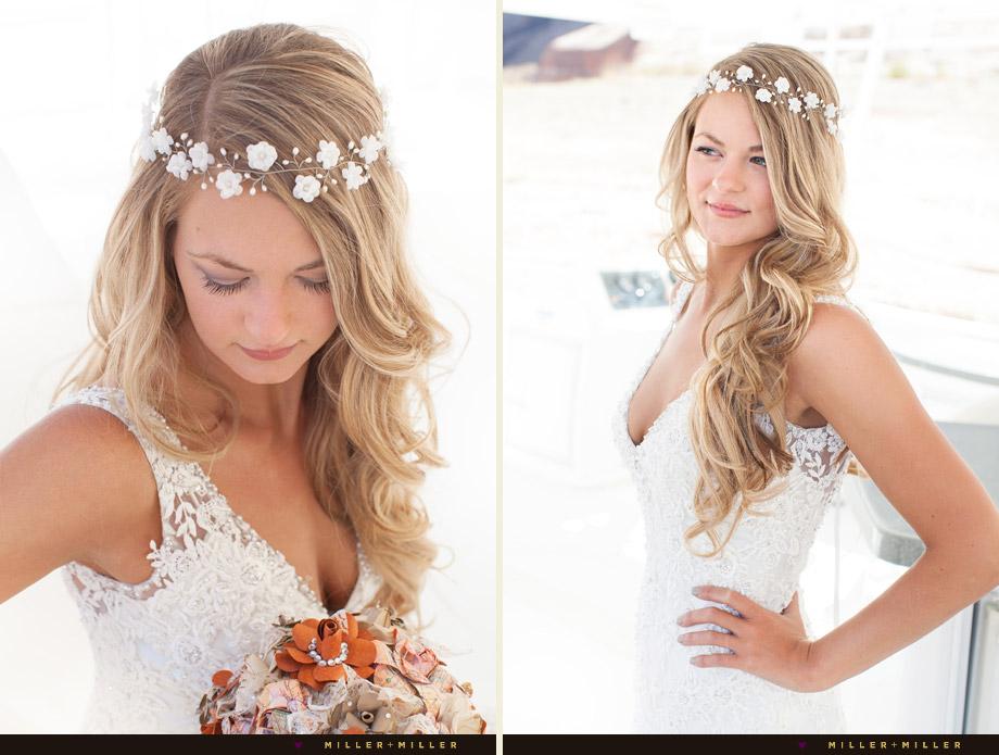 bride flower crown vines hair accessory