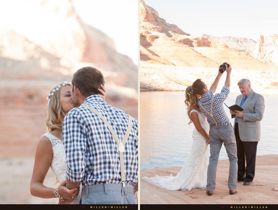 bride groom selfie end of ceremony