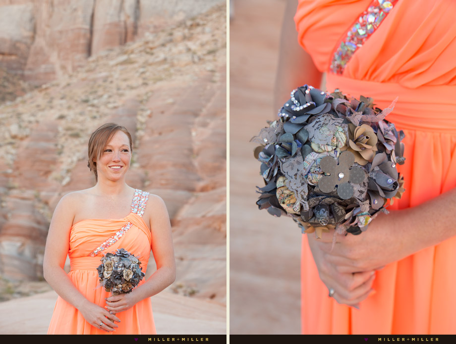 colored paper wedding bouquet