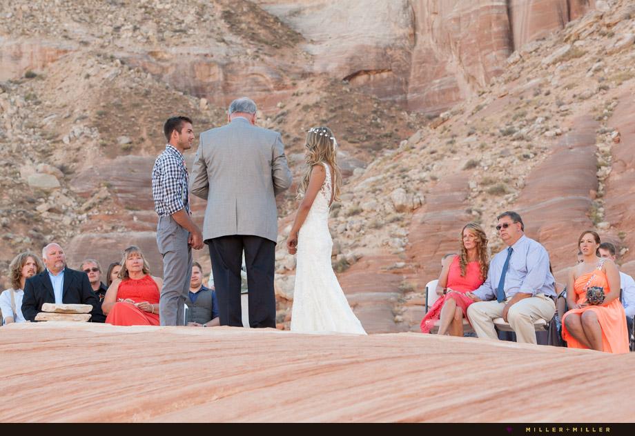 desert outdoor wedding