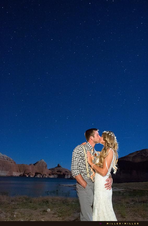 desert stars night wedding photos