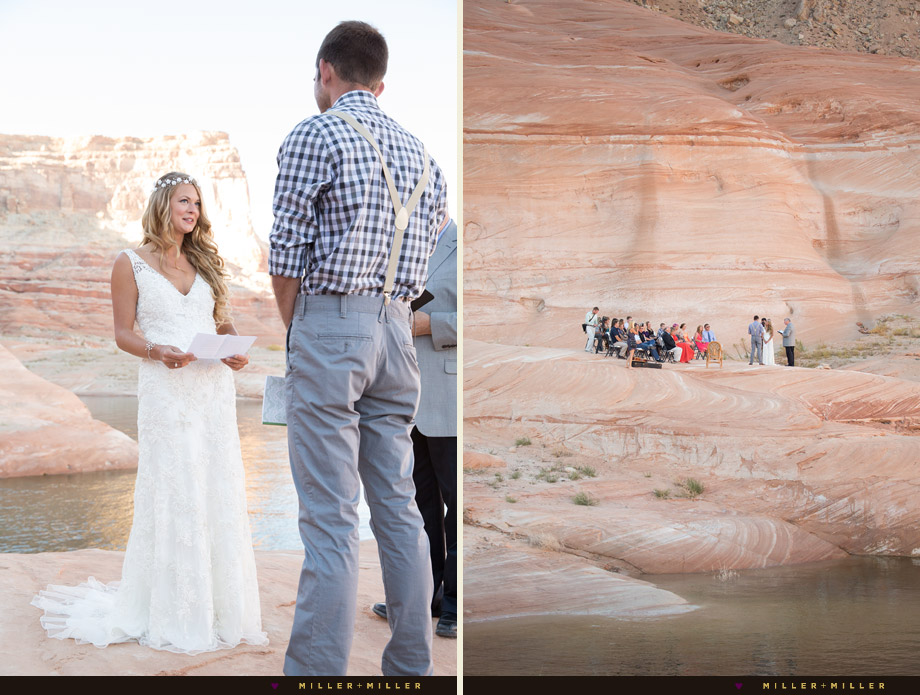 Lake Powell destination wedding ceremony