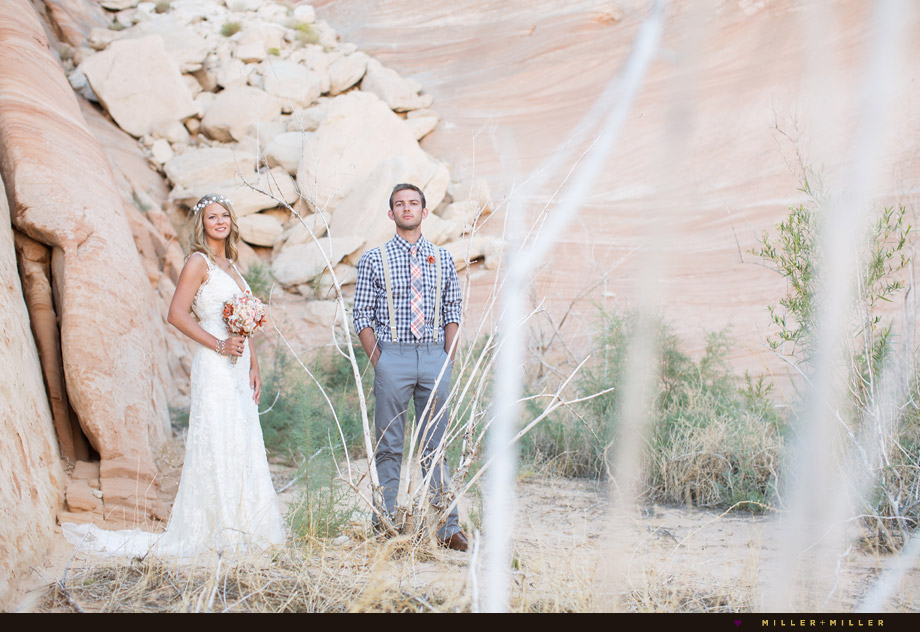 Las Vegas outdoor rustic wedding