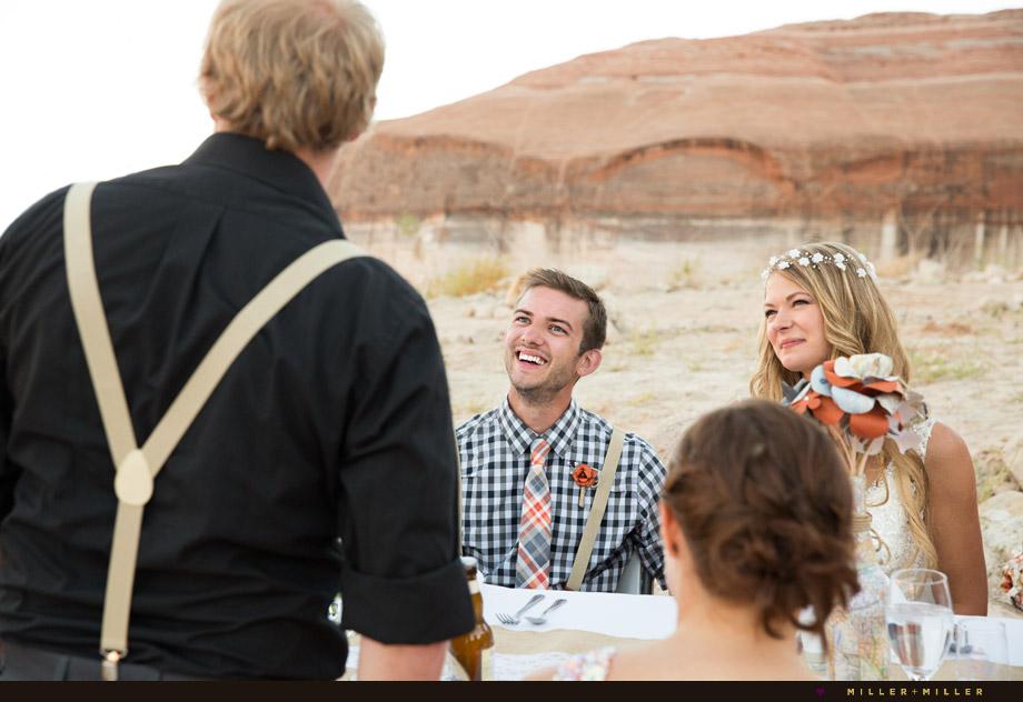 red rock desert vintage wedding