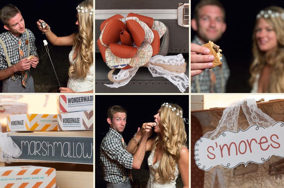 smores instead of wedding cake