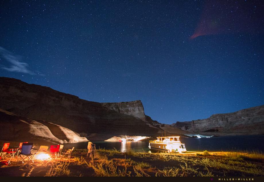 stars lake powell cove night