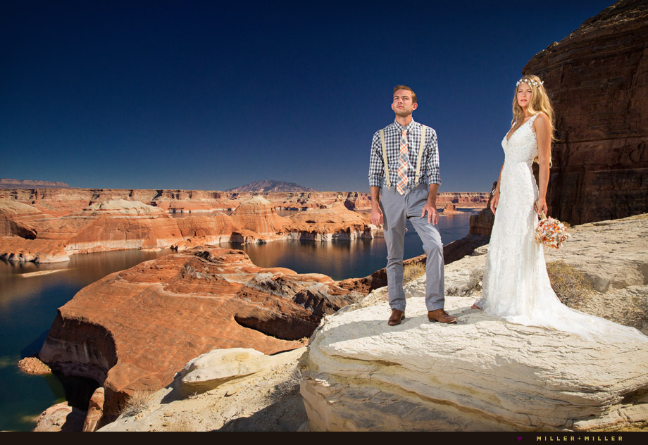 Utah desert Lake Powell wedding